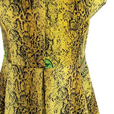 python pattern pleats dress